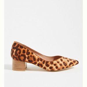 Anthropologie Imogen Leopard Print Block Heels